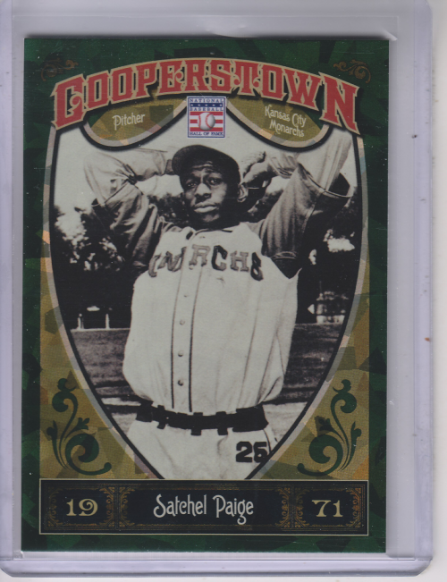 2013 Panini Cooperstown Green Crystal #17 Satchel Paige