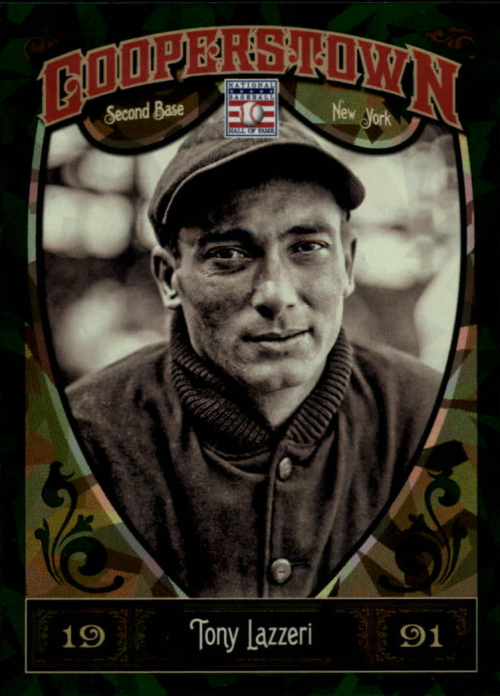 2013 Panini Cooperstown Green Crystal #21 Tony Lazzeri