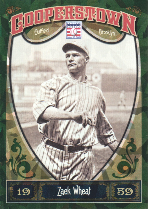 2013 Panini Cooperstown Green Crystal #22 Zack Wheat