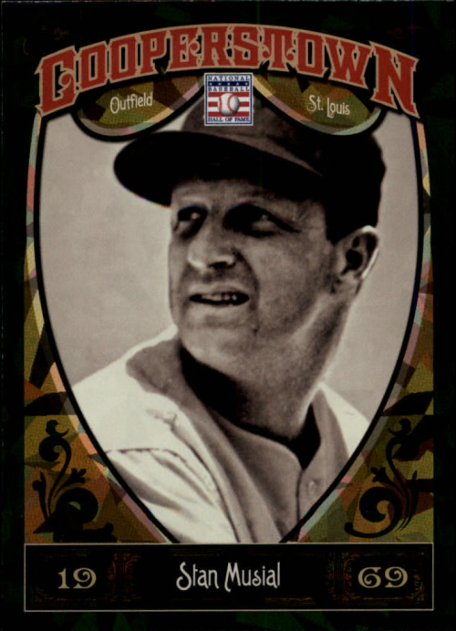 2013 Panini Cooperstown Green Crystal #56 Stan Musial
