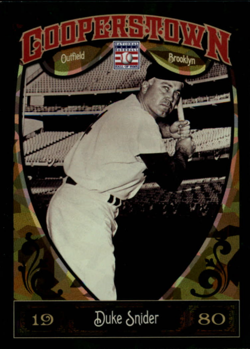 2013 Panini Cooperstown Green Crystal #58 Duke Snider