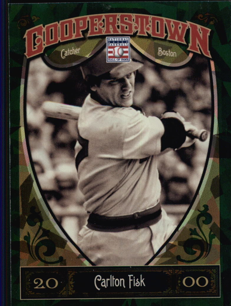 2013 Panini Cooperstown Green Crystal #93 Carlton Fisk