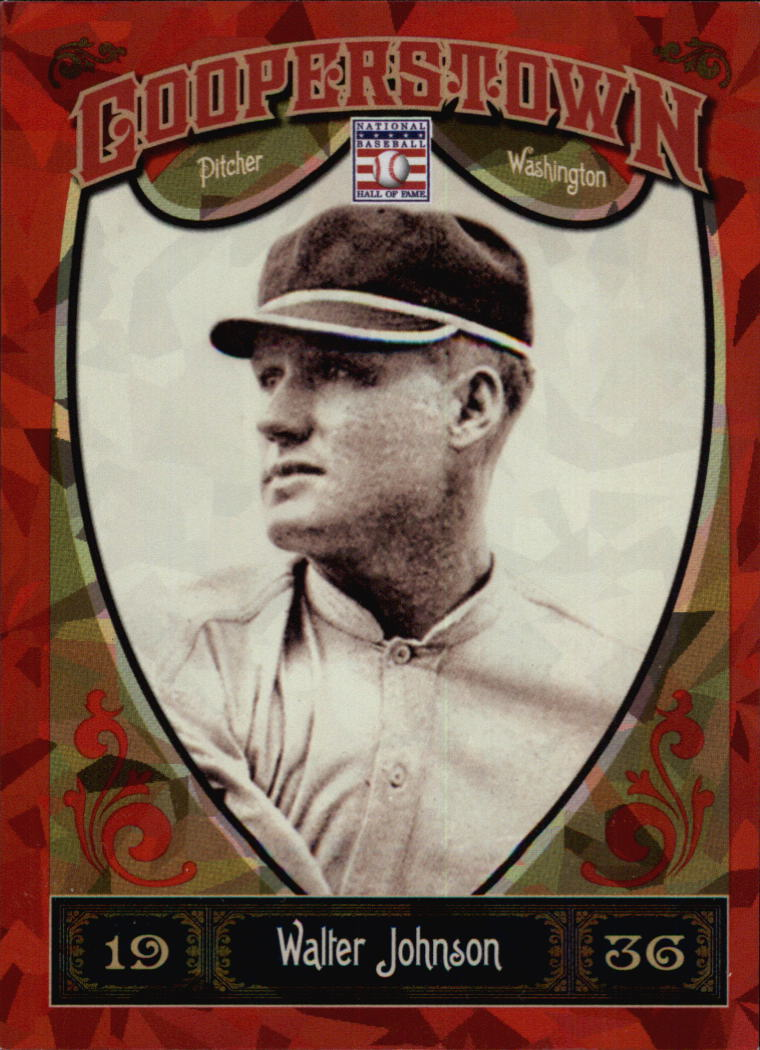 2013 Panini Cooperstown Red Crystal #7 Walter Johnson