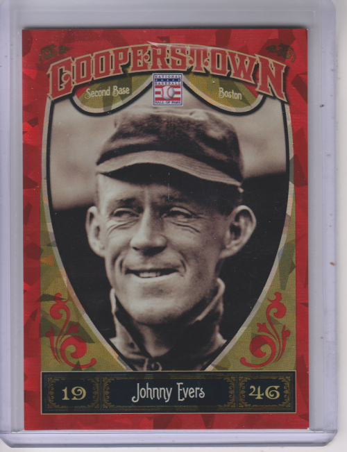 2013 Panini Cooperstown Red Crystal #9 Johnny Evers