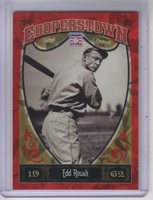 2013 Panini Cooperstown Red Crystal #16 Edd Roush