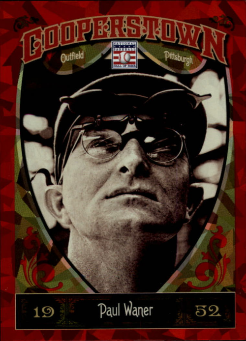 2013 Panini Cooperstown Red Crystal #27 Paul Waner