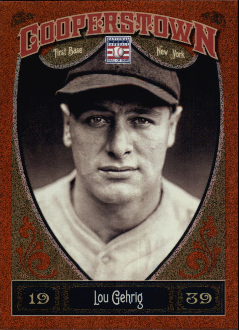 2013 Panini Cooperstown Orange #1 Lou Gehrig