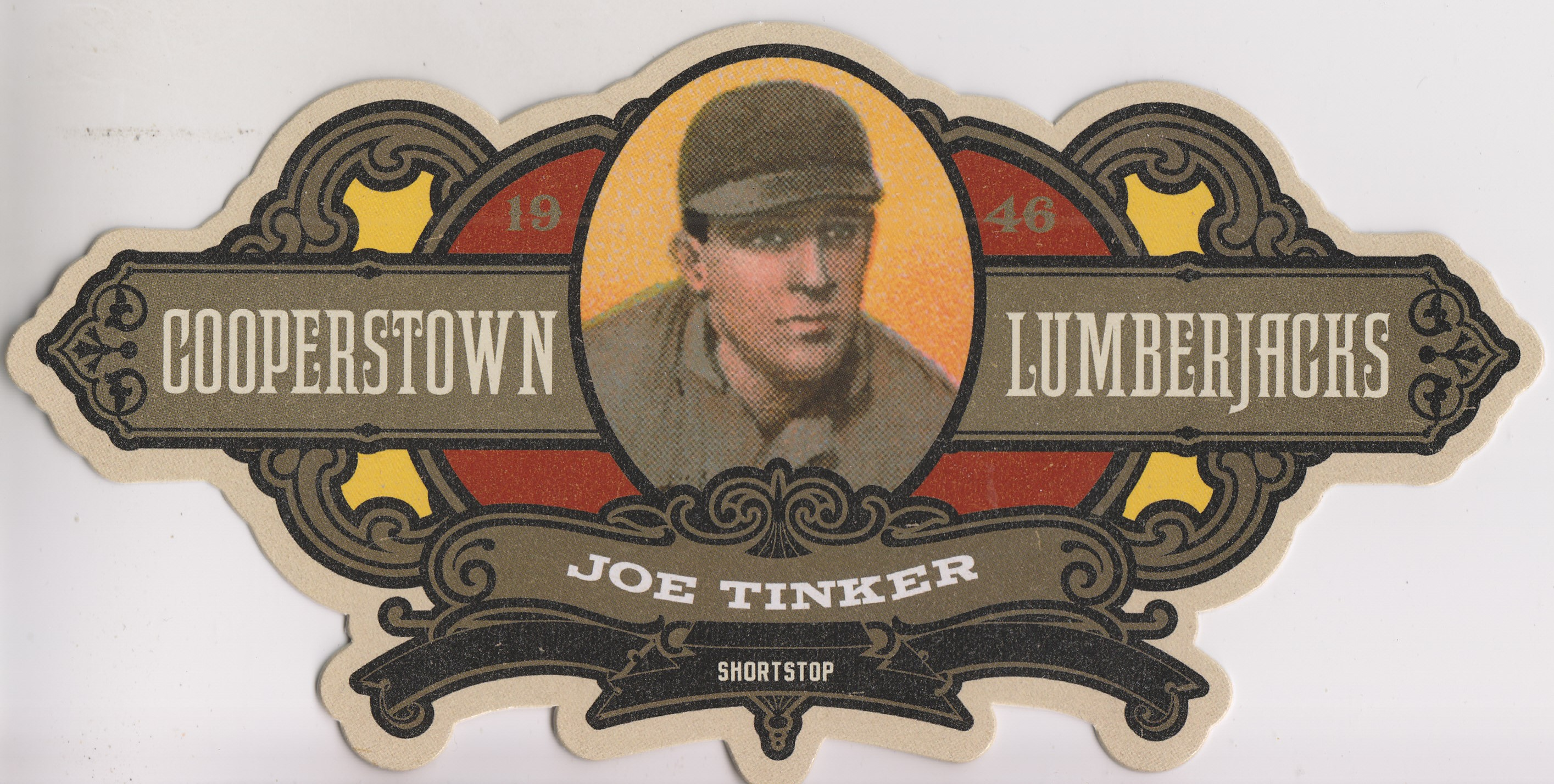 2013 Panini Cooperstown Lumberjacks Die Cut #20 Joe Tinker