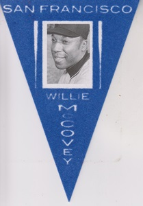 2013 Panini Cooperstown Pennants Blue #14 Willie McCovey