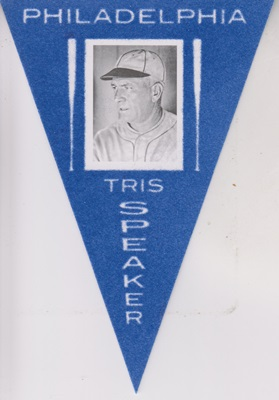 2013 Panini Cooperstown Pennants Blue #20 Tris Speaker