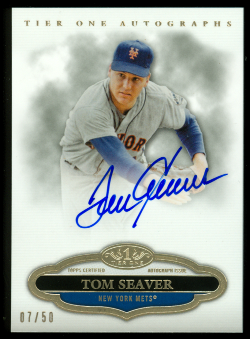 2013 Topps Tier One Autographs #TS Tom Seaver EXCH