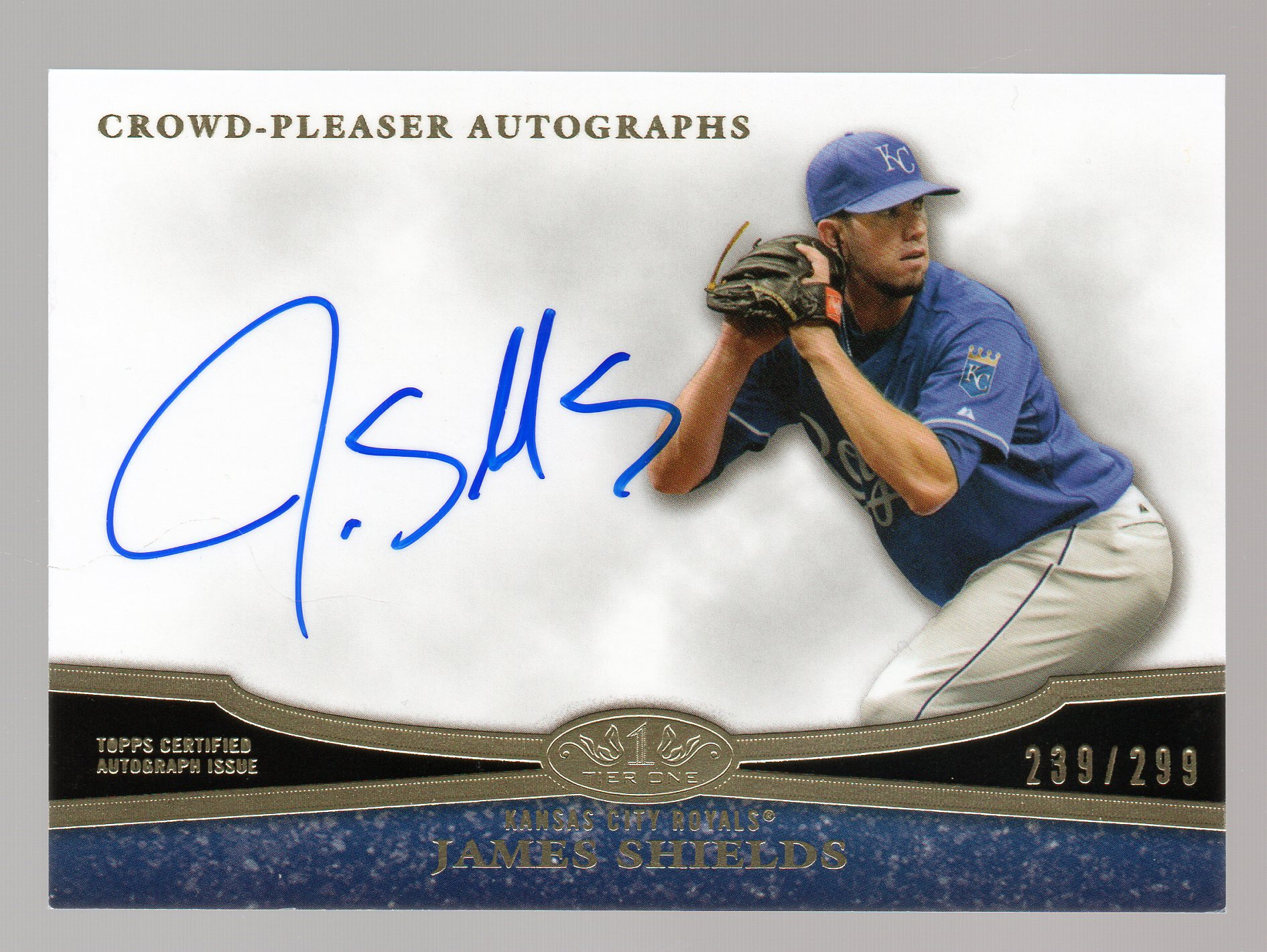 2013 Topps Tier One Crowd Pleaser Autographs #JS1 James Shields/299