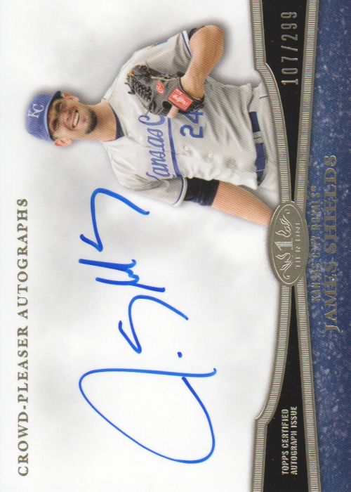 2013 Topps Tier One Crowd Pleaser Autographs #JS2 James Shields/299