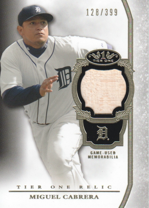 2013 Topps Tier One Relics #MC Miguel Cabrera