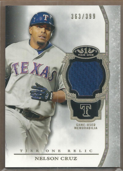 2013 Topps Tier One Relics #NC Nelson Cruz