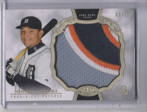 2013 Topps Tier One Legends Prodigious Patches #MC Miguel Cabrera