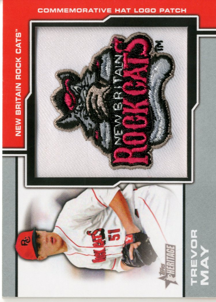 2013 Topps Heritage Minors Manufactured Hat Logo #TM Trevor May