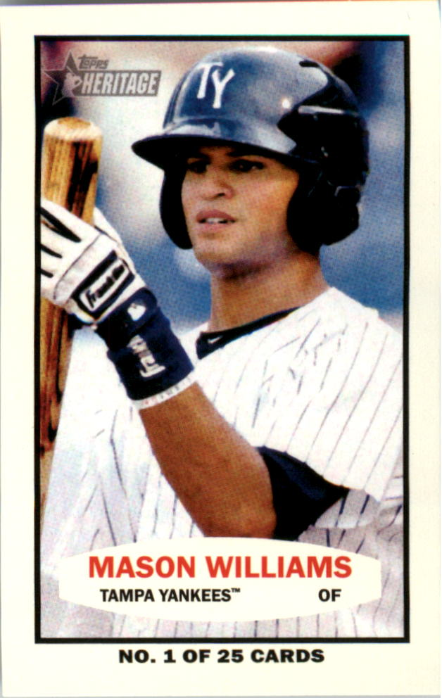 2013 Topps Heritage Minors 1964 Bazooka #MW Mason Williams