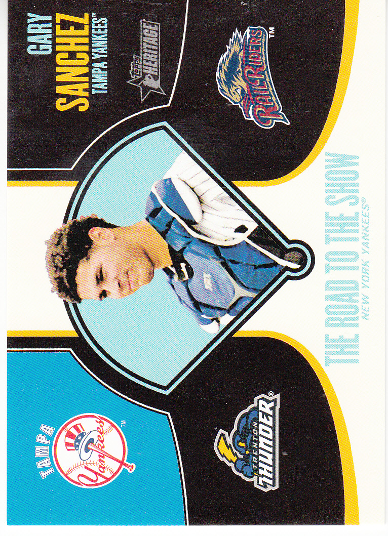 2013 Topps Heritage Minors Road to the Show #GS Gary Sanchez