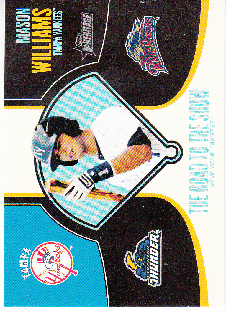 2013 Topps Heritage Minors Road to the Show #MWI Mason Williams