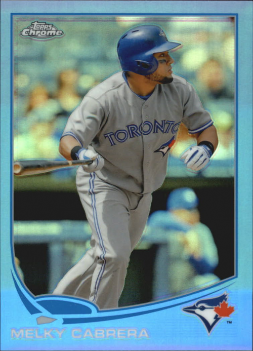 2013 Topps Chrome Blue Refractors #15 Melky Cabrera