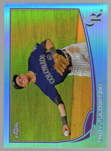 2013 Topps Chrome Blue Refractors #52 Troy Tulowitzki