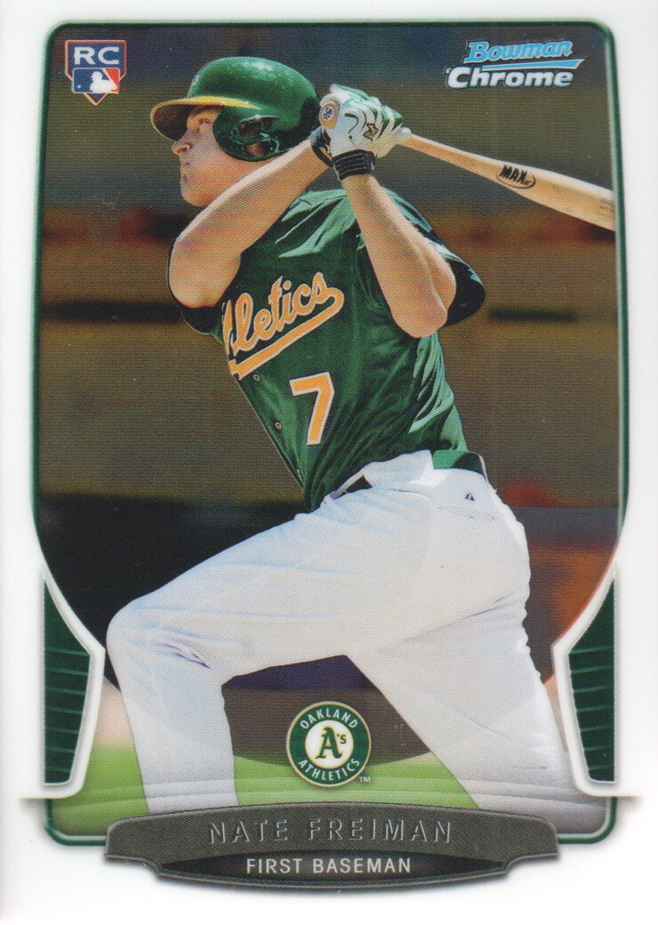 2013 Bowman Chrome #202 Nate Freiman RC