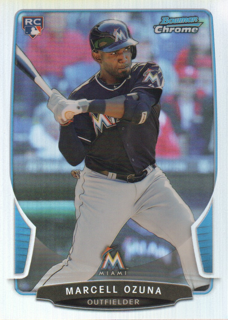 2013 Bowman Chrome Refractors #108 Marcell Ozuna