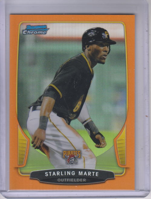 2013 Bowman Chrome Orange Refractors #7 Starling Marte