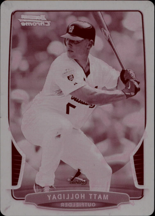 2013 Bowman Chrome Printing Plates Magenta #167 Matt Holliday