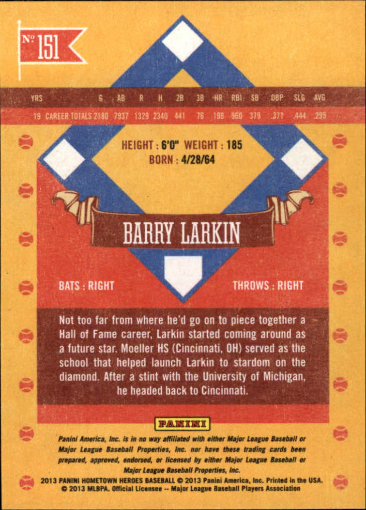 2013 Hometown Heroes #151 Barry Larkin