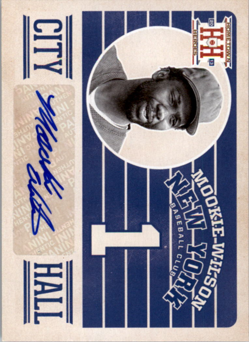 2013 Hometown Heroes City Hall Signatures #6 Mookie Wilson