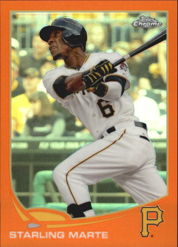2013 Topps Chrome Orange Refractors #81 Starling Marte