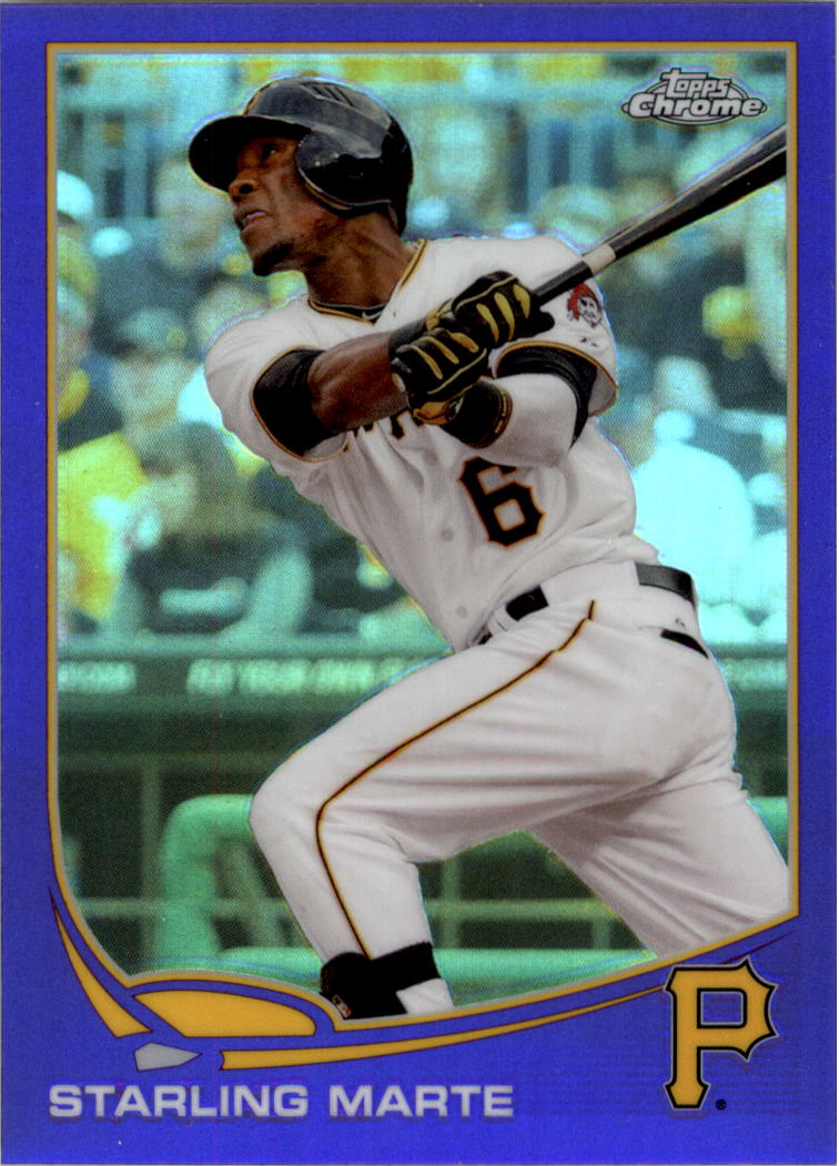 2013 Topps Chrome Purple Refractors #81 Starling Marte