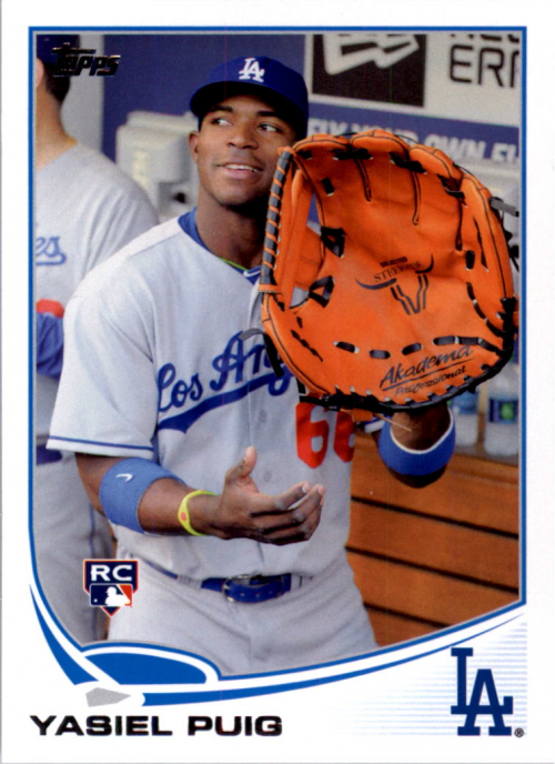 2013 Topps Update #US250C Yasiel Puig SP/Big glove