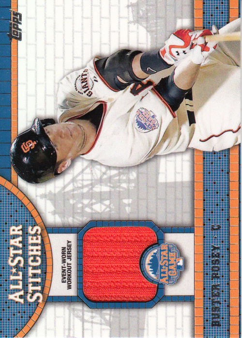 2013 Topps Update All Star Stitches #BP Buster Posey