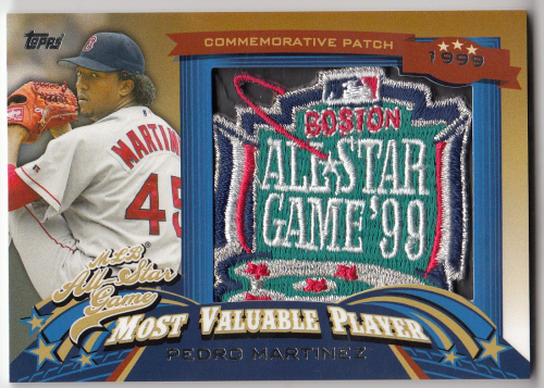 2013 Topps Update All Star Game MVP Commemorative Patches #13 Pedro Martinez
