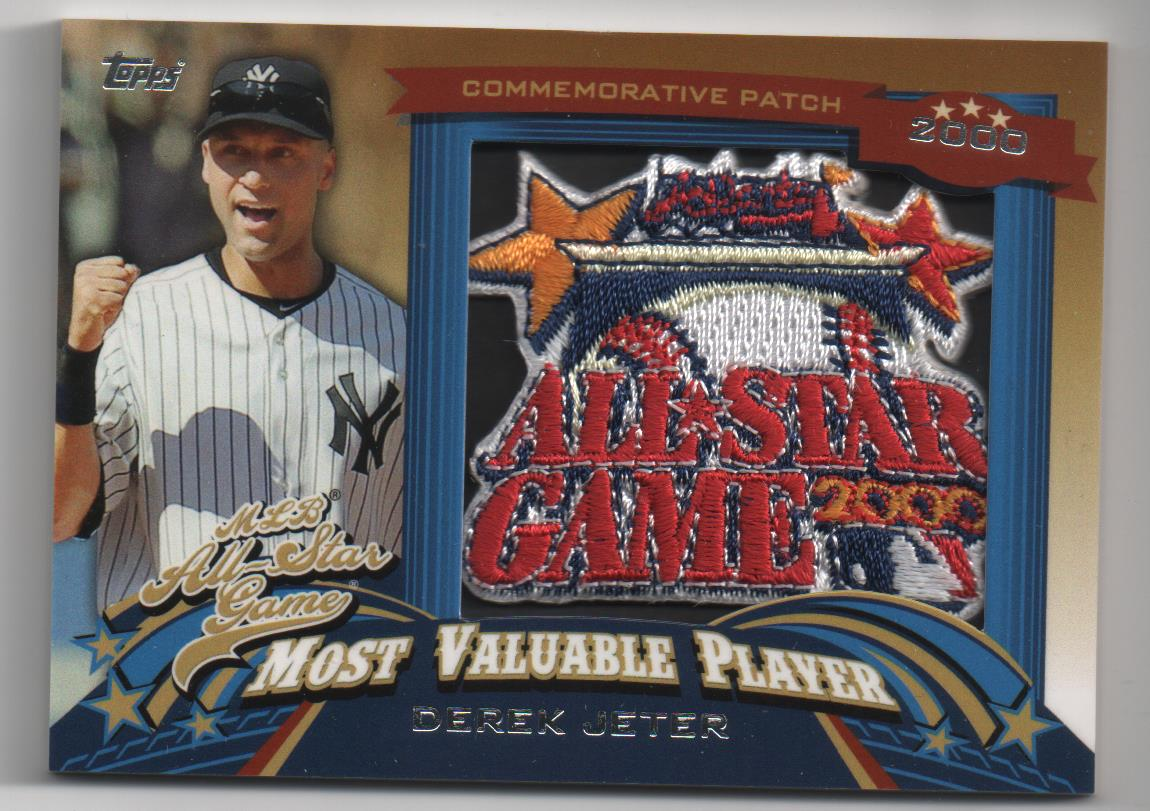 2013 Topps Update All Star Game MVP Commemorative Patches #14 Derek Jeter