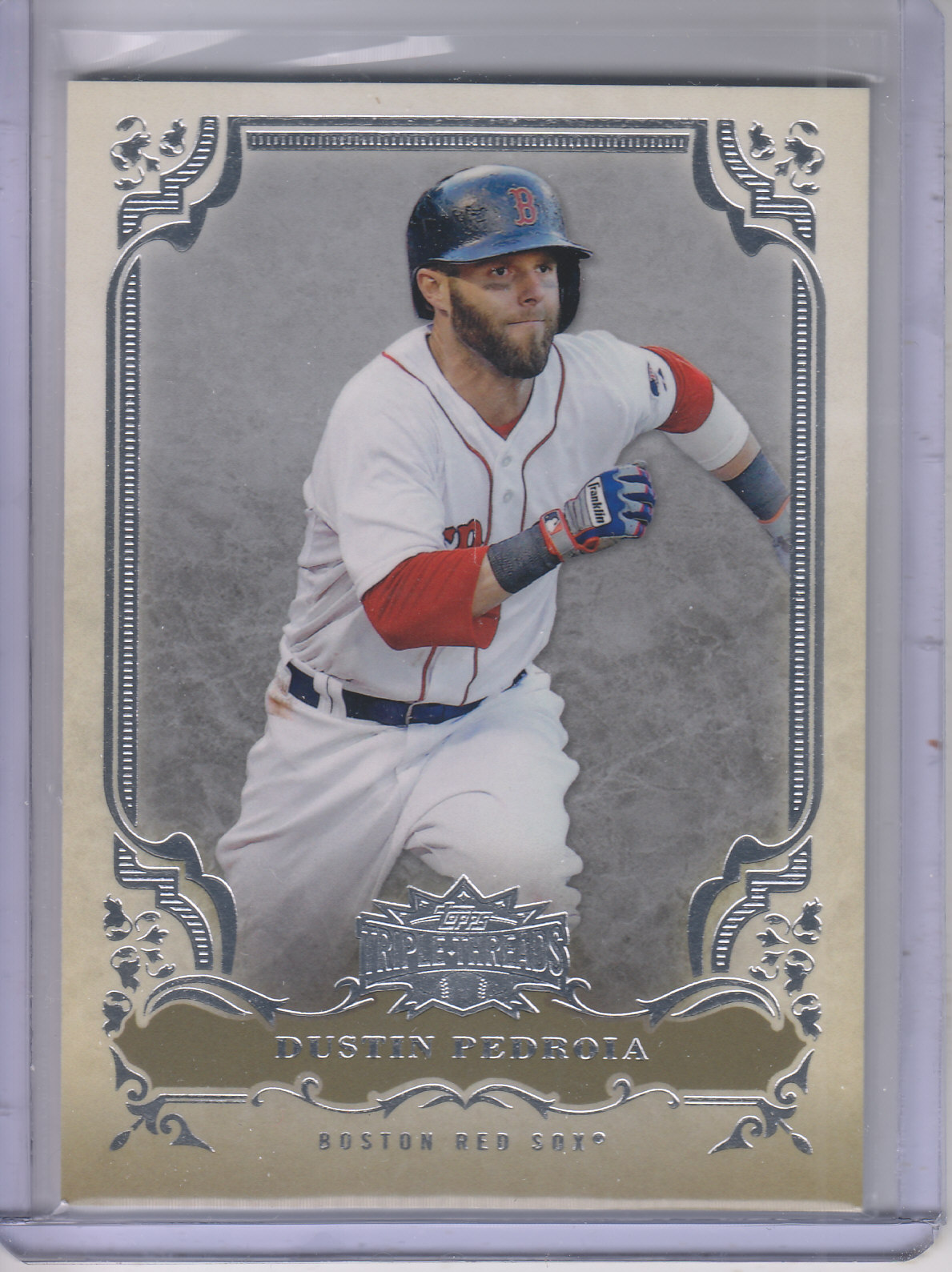 2013 Topps Triple Threads #3 Dustin Pedroia