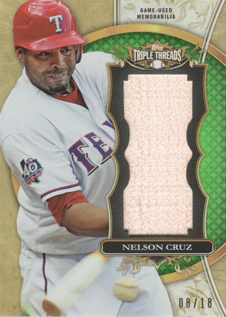 2013 Topps Triple Threads Unity Relics Emerald #NC Nelson Cruz