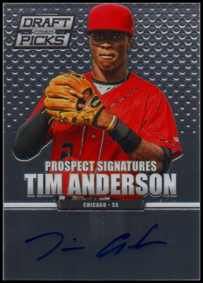 2013 Panini Prizm Perennial Draft Picks Prospect Signatures #18 Tim Anderson