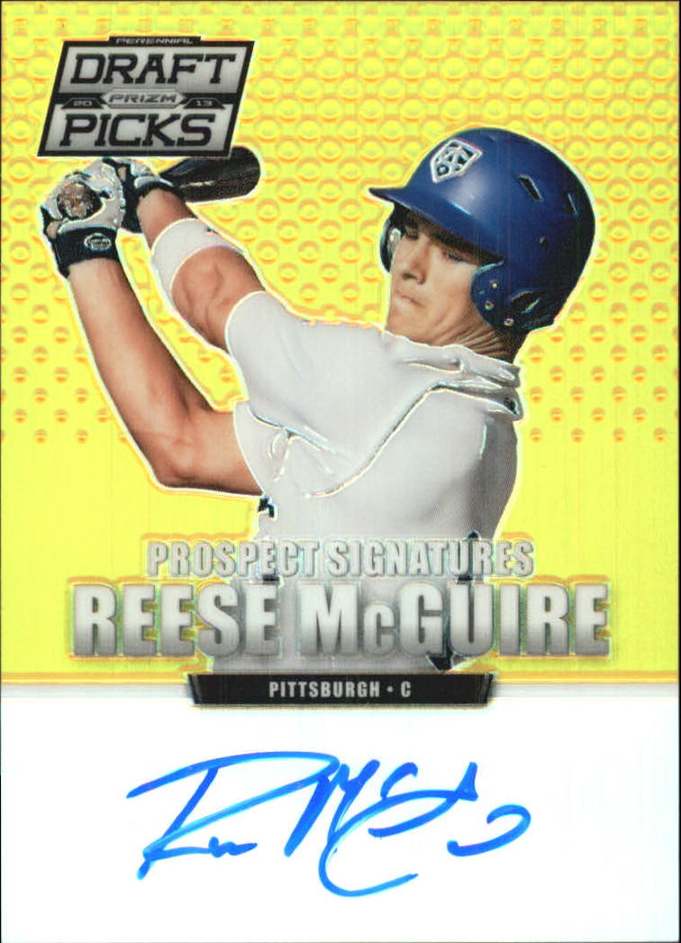 2013 Panini Prizm Perennial Draft Picks Prospect Signatures Gold Prizms #15 Reese McGuire