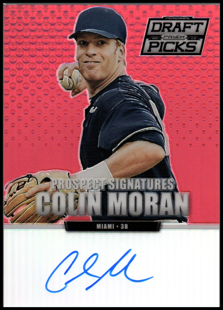 2013 Panini Prizm Perennial Draft Picks Prospect Signatures Red Prizms #5 Colin Moran