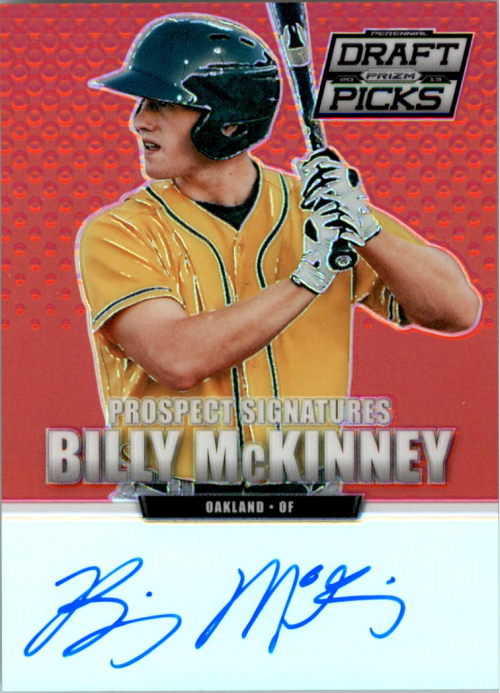 2013 Panini Prizm Perennial Draft Picks Prospect Signatures Red Prizms #25 Billy McKinney