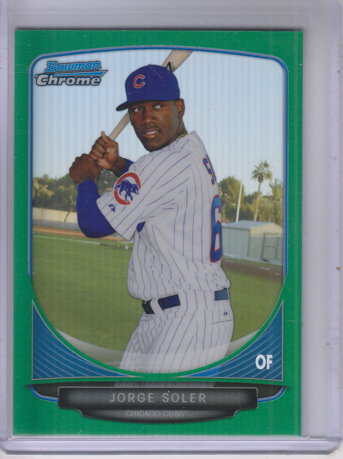 2013 Bowman Chrome Draft Top Prospects Green Refractors #TP9 Jorge Soler