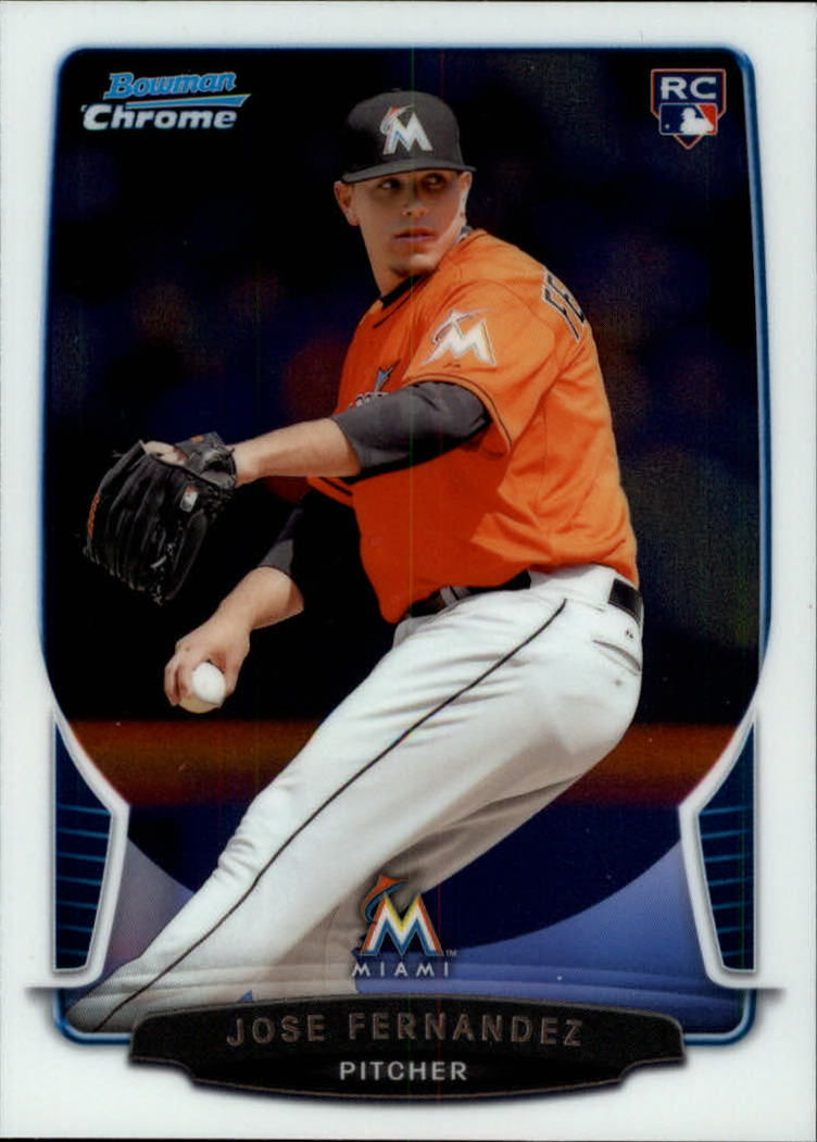 2013 Bowman Chrome Draft #10 Jose Fernandez RC