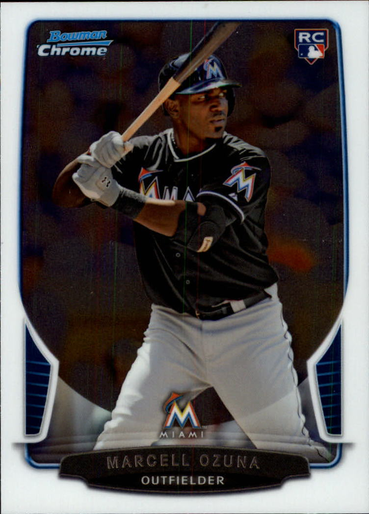 2013 Bowman Chrome Draft #17 Marcell Ozuna RC