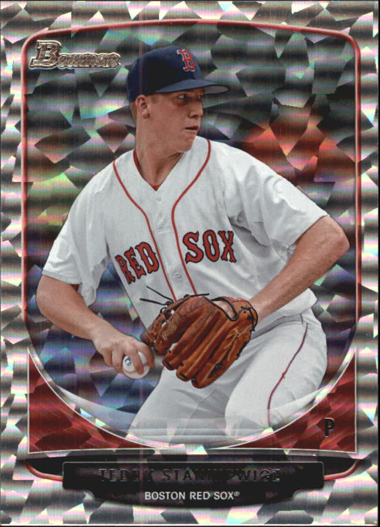 2013 Bowman Draft Draft Picks Silver Ice #BDPP22 Teddy Stankiewicz