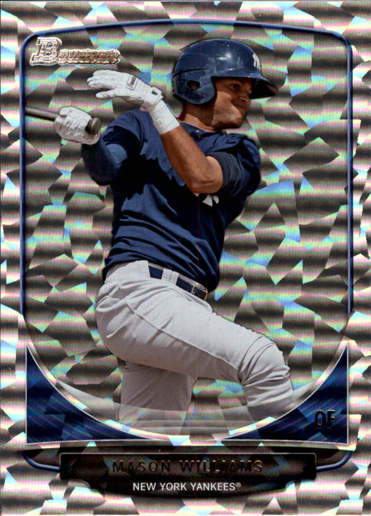 2013 Bowman Draft Top Prospects Silver Ice #TP3 Mason Williams