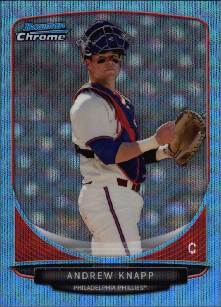 2013 Bowman Chrome Draft Draft Picks Blue Wave Refractors #BDPP17 Andrew Knapp